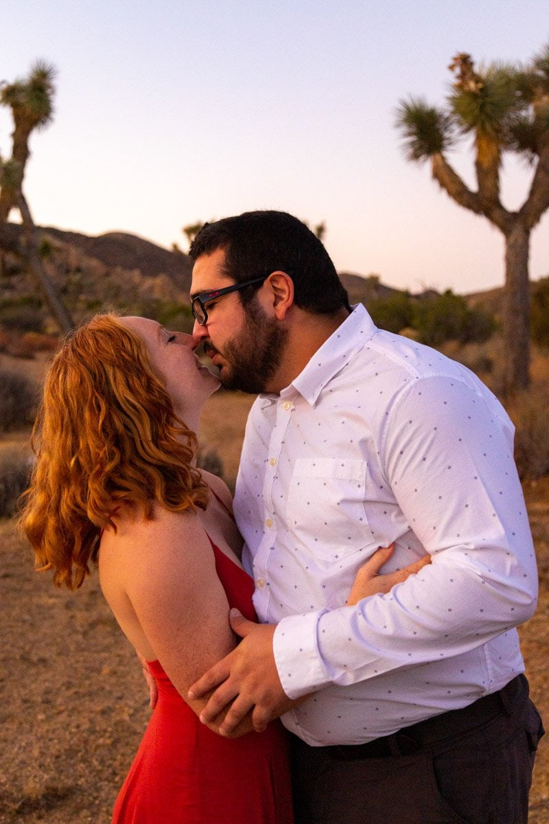 couple in love in the desert