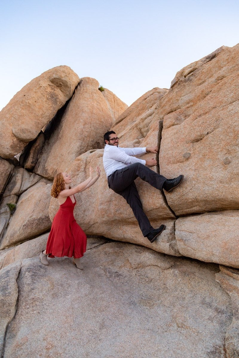 engagement session climbing