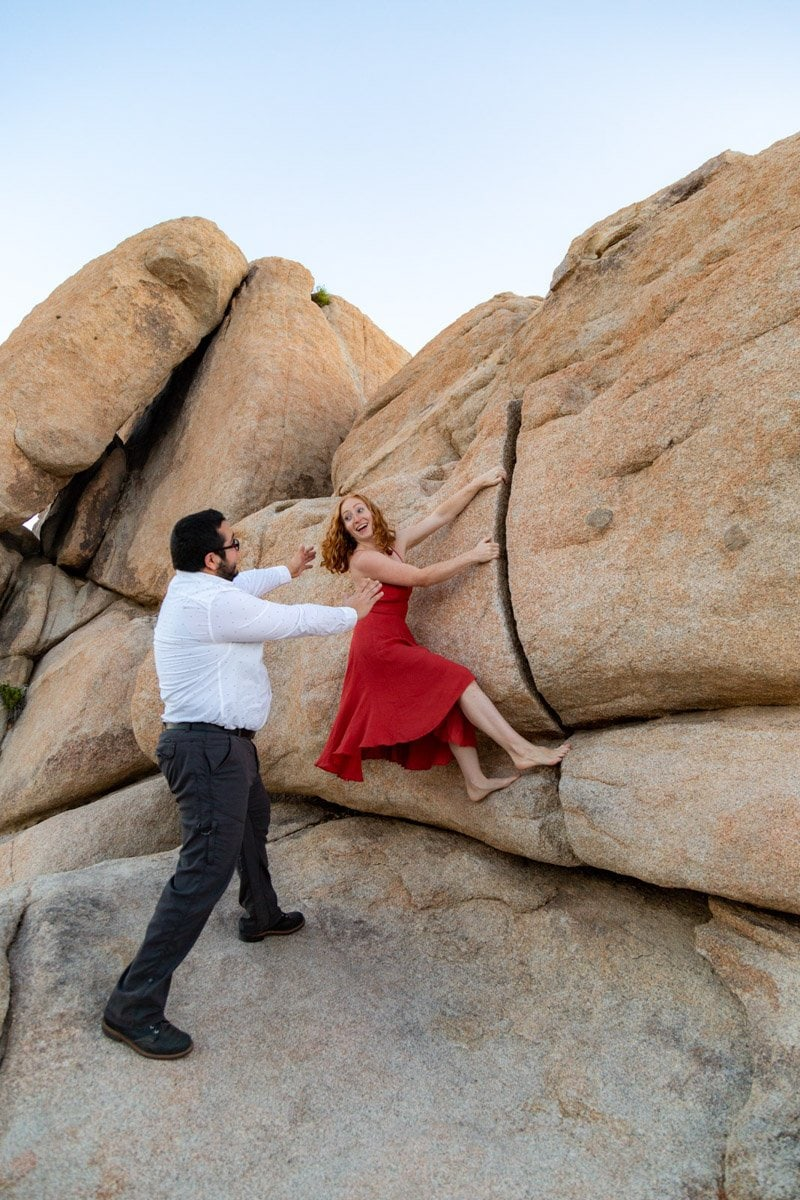 joshua tree climbing wedding