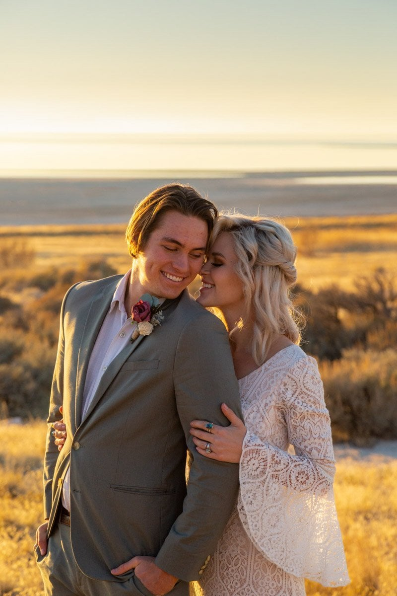 couple in antelope island