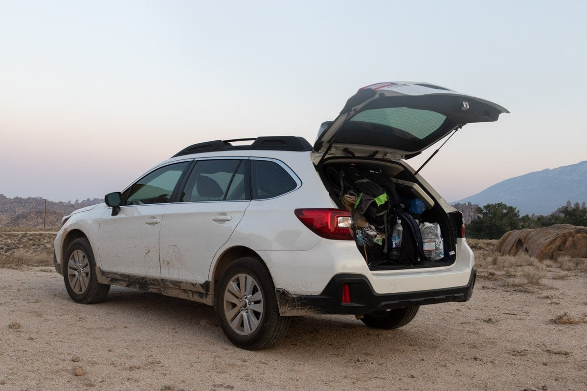 car camping adventures in a subaru