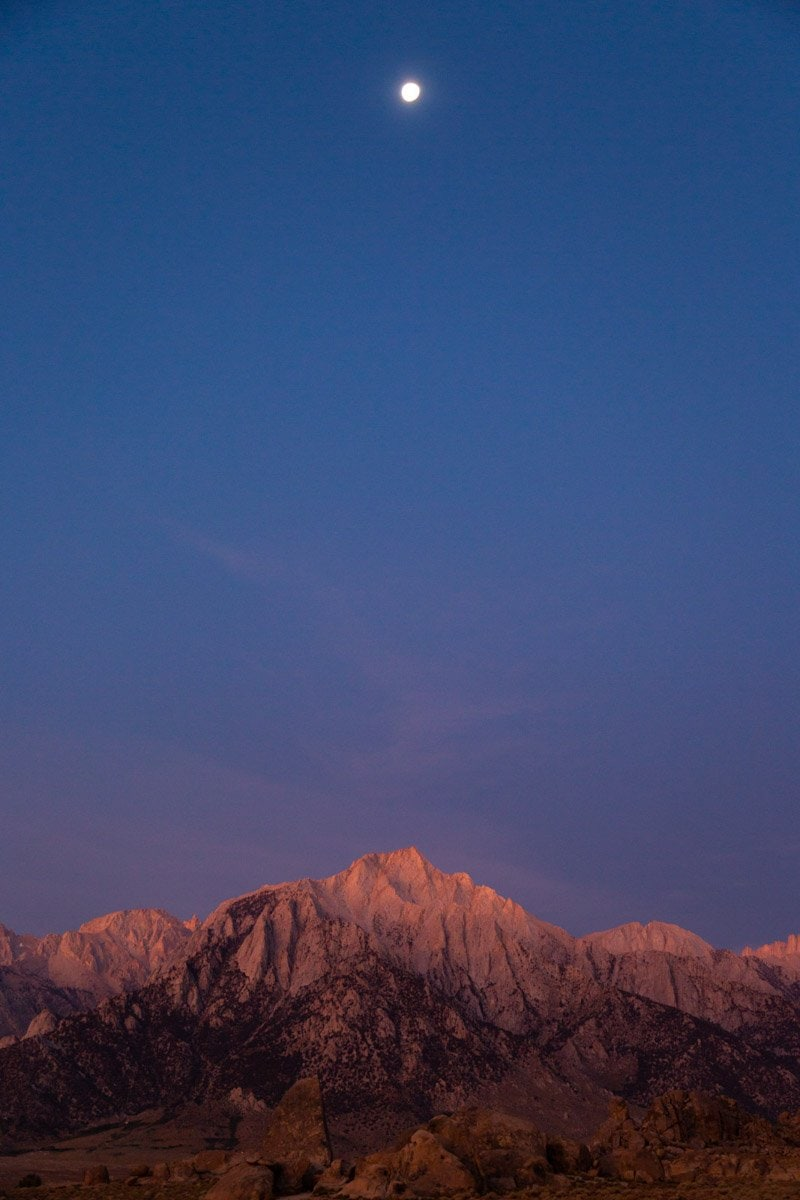 lone peak at sunrise