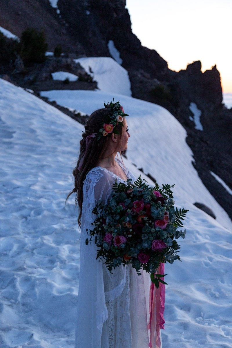 bride at sunrise
