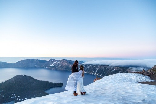 flowy reclamation dress at crater lake