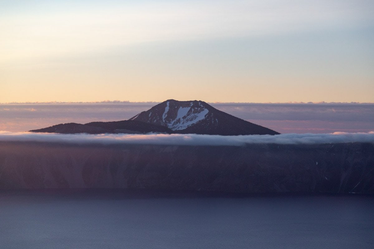 mount scott at sunrise