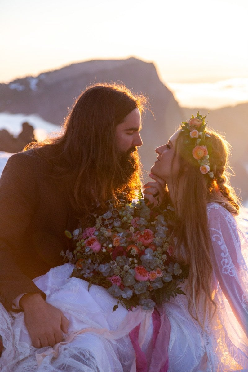 golden sunrise vow renewal