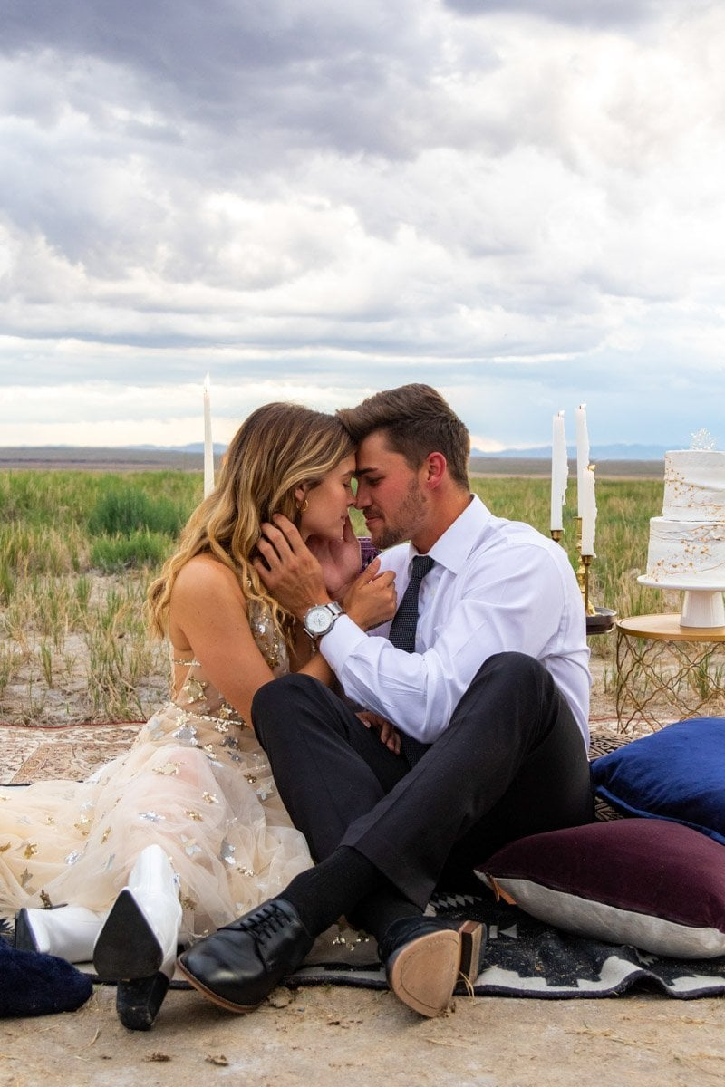 couple in love on their elopement