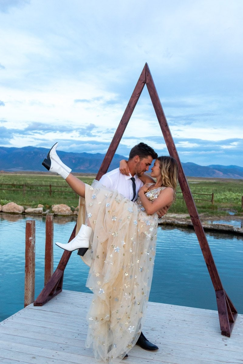 couple at meadow hotsprings