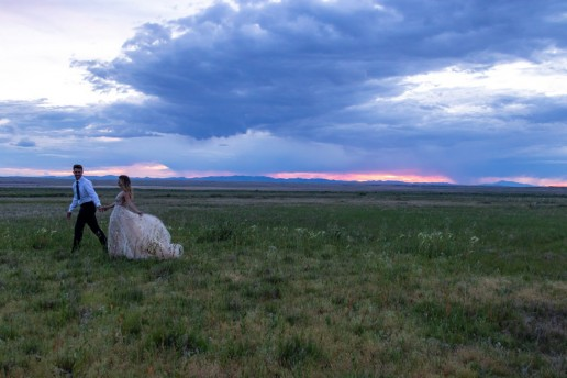 sunset elopement in utah