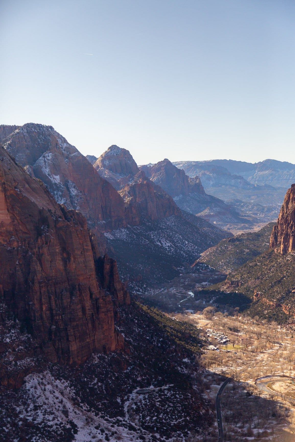 view from angels landing in Zion national park. Why not say your vows on tope of an incredible sandstone tower