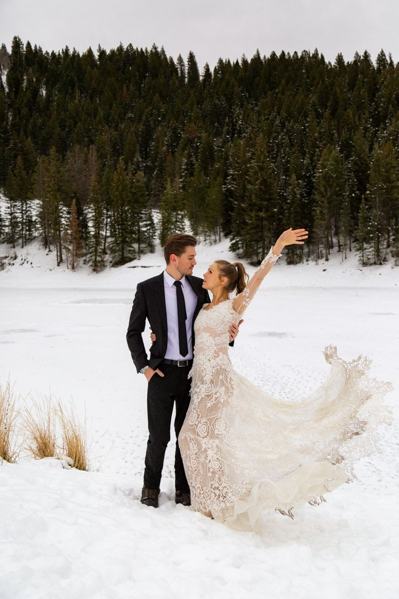 beauty in nature for a winter elopement