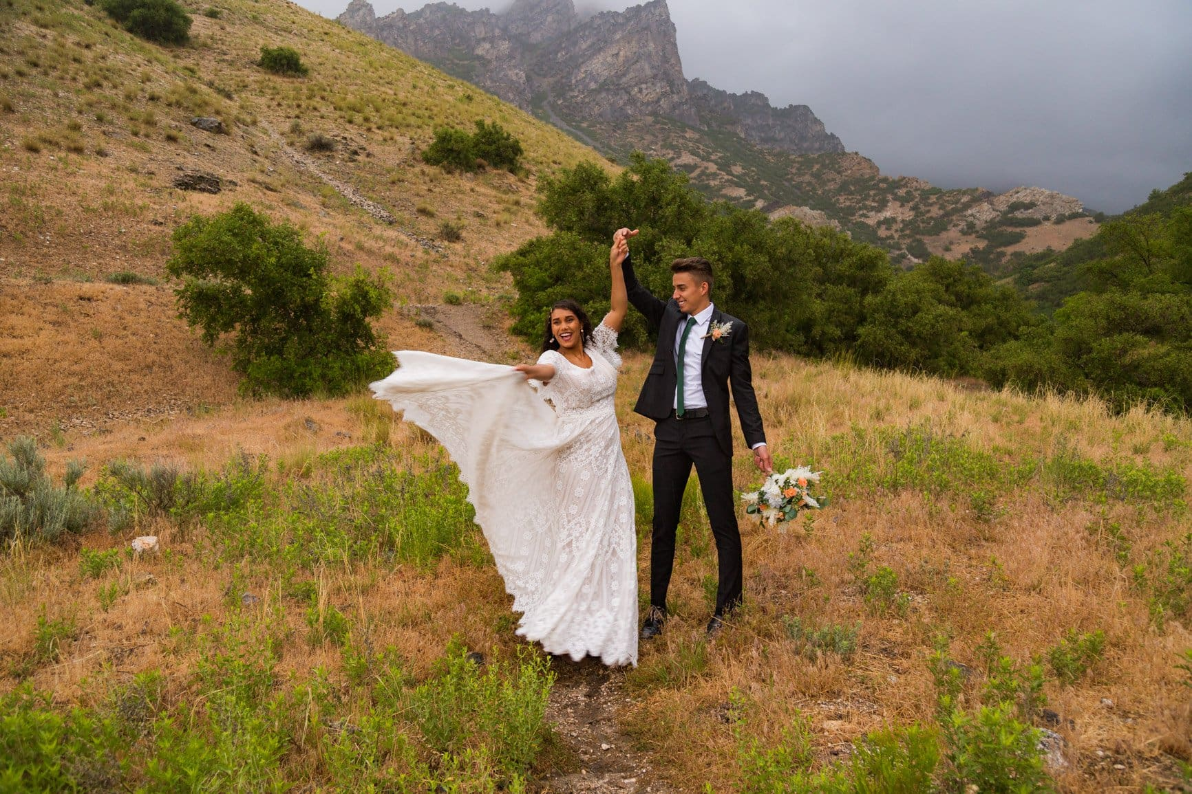 a vow renewal in provo canyon utah