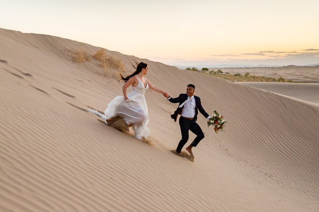 little sahara sand dunes elopement
