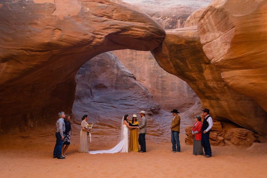 elopement in arches national park